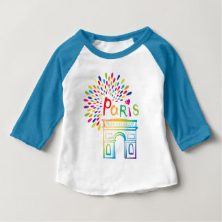 Paris France | Arc de Triomphe | Neon Design Baby T-Shirt