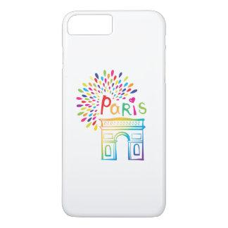 Paris France | Arc de Triomphe | Neon Design iPhone 8 Plus/7 Plus Case