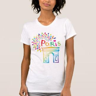 Paris France | Arc de Triomphe | Neon Design T-Shirt