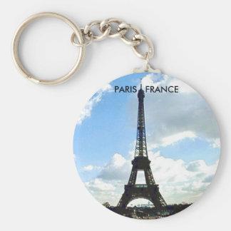 PARIS FRANCE BASIC ROUND BUTTON KEY RING