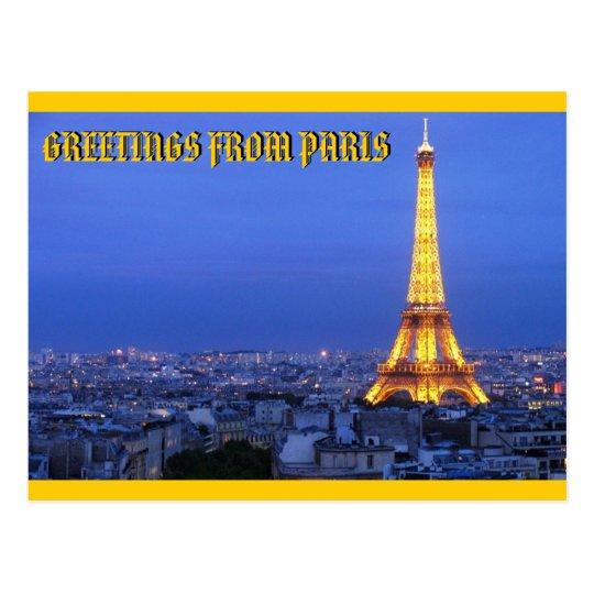 PARIS, FRANCE BY MOJISOLA A GBADAMOSI OKUBULE POSTCARD