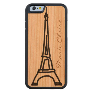 Paris France Carved Cherry iPhone 6 Bumper Case