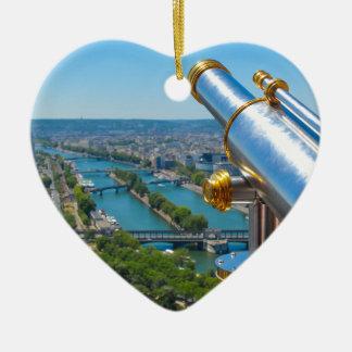 Paris, France Ceramic Heart Decoration