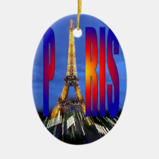 Paris France Ceramic Oval Decoration