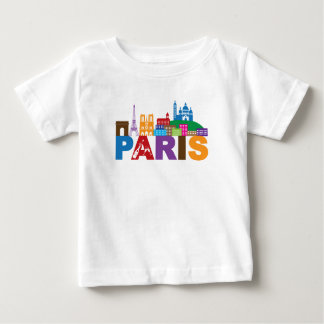 Paris, France   Colorful Typography Baby T-Shirt