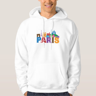 Paris, France | Colorful Typography Hoodie