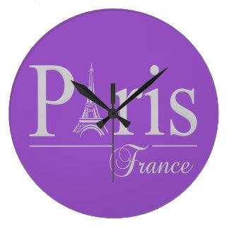 Paris France custom color wall clock