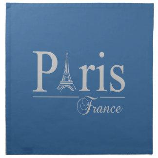 Paris France custom napkins - choose color