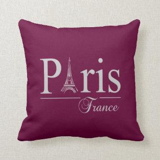Paris France custom throw pillow - choose color