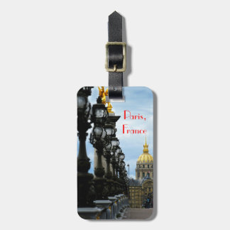 Paris France Customizable Luggage Tag