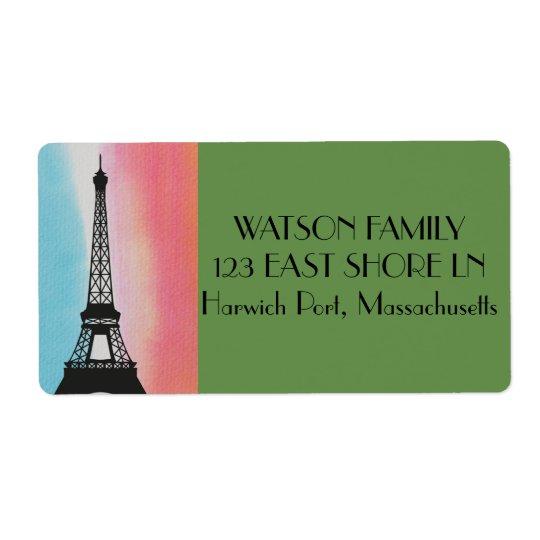 Paris France Eiffel Personalise Destiny Destiny'S Shipping Label
