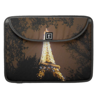 Paris, France - Eiffel Tower at Night Sleeve For MacBook Pro