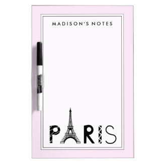 Paris, France | Eiffel Tower Dry Erase Whiteboard