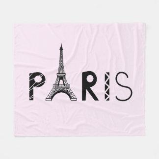 Paris, France   Eiffel Tower Fleece Blanket