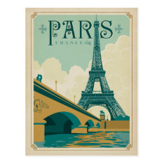 Paris France - Eiffel Tower Postcard at Zazzle