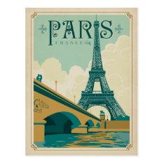 Paris France - Eiffel Tower Postcard at Zazzle