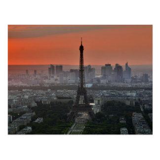 Paris France Eiffel Tower Skyline Postcard