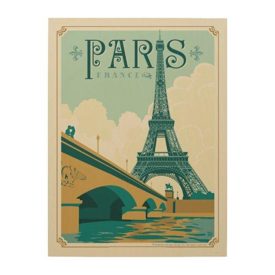 Paris France - Eiffel Tower Wood Wall Decor