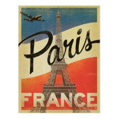 Paris, France - Flag Postcard at Zazzle