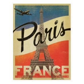 Paris, France - Flag Postcard