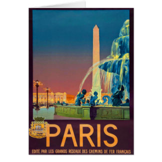 Paris France Fountain Obelisk Card