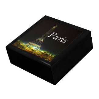Paris France Gifts and Souvenirs Large Square Gift Box