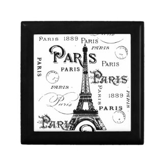 Paris France Gifts and Souvenirs Small Square Gift Box