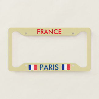 Paris France License Plate Frame