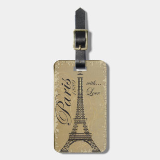 Paris France Personalize Luggage Tag