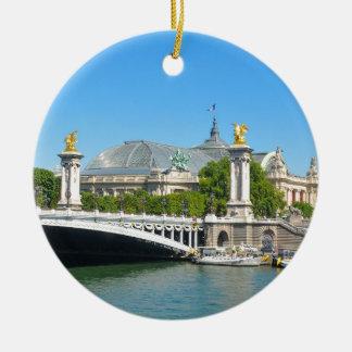 Paris, France Round Ceramic Decoration