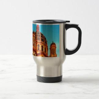 paris france saint augustin landmark stainless steel travel mug