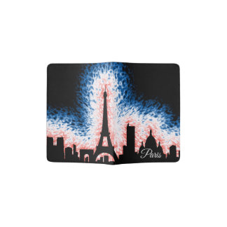 Paris France Silhouette Passport Holder