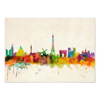 Paris France Skyline Cityscape Card