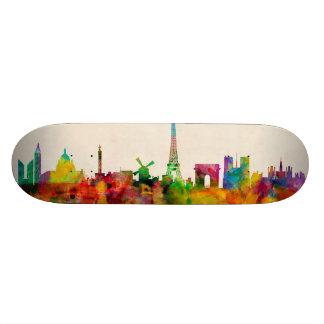 Paris France Skyline Cityscape Skateboard Decks