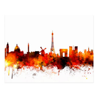 Paris France Skyline Postcard