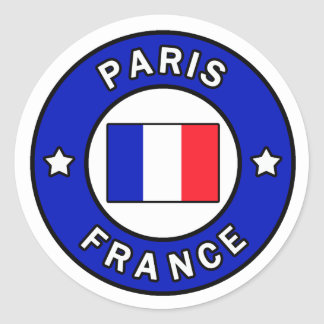 Paris France Sticker