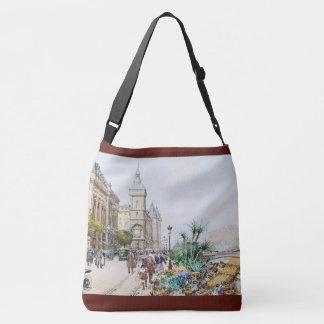 Paris France Street Flower Sellers Market Tote Bag