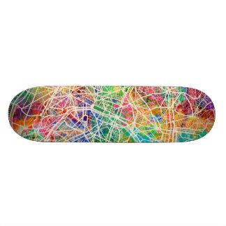 Paris France Street Map 19.7 Cm Skateboard Deck