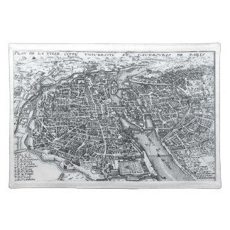 Paris France Street Map Placemat