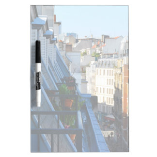Paris France streets from a roof top Dry Erase Whiteboard