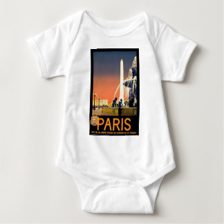 Paris France Vintage Baby Bodysuit