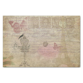 Paris France Vintage Glam Retro Fashion Tissue Paper