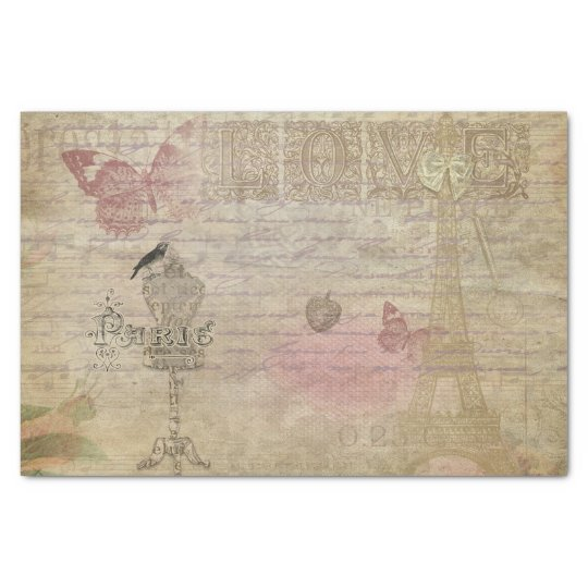Paris France Vintage Glam Retro Fashion Tissue Paper