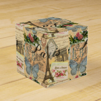 Paris France Vintage Travel Collage Favour Box