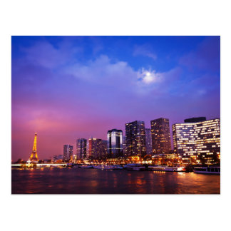Paris, France's Skyline Postcard