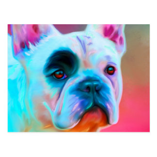 Paris French Bulldog Postcard