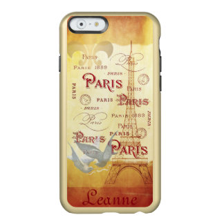 Paris French Collage in Gold and Wine Incipio Feather® Shine iPhone 6 Case