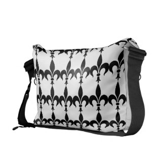 Paris French Fleur de Lis Messenger Bag