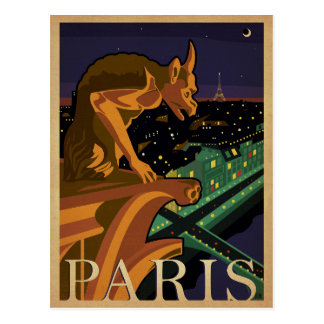 Paris - Gargoile Postcard