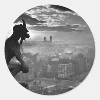 Paris Gargoyle 1920 Round Sticker